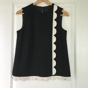 Victoria Beckham target scallop sleeveless mod top
